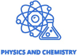 Physics & Chemistry embroidery design