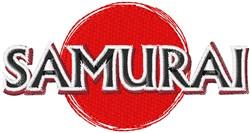 Samurai embroidery design