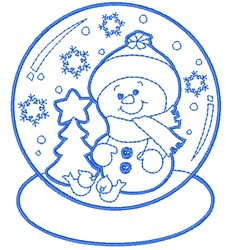 Christmas Snow Globe embroidery design