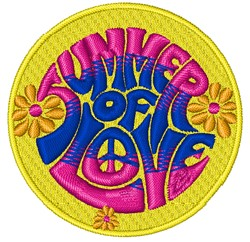 Summer Of Love embroidery design