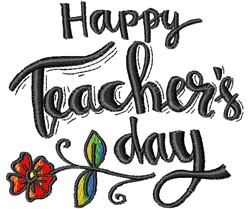 Teachers Day embroidery design