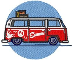 Summer Van embroidery design