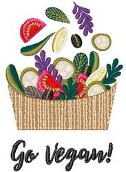 Go Vegan embroidery design