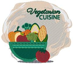 Vegetarian Cuisine embroidery design