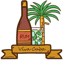 Viva Cuba Rum embroidery design