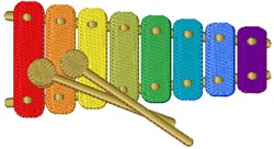 Toy Xylephone embroidery design
