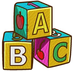 Toy Blocks embroidery design