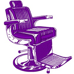 Realistic Barbers Chair embroidery design