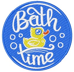 Bath Time Rubber Duck embroidery design