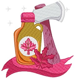 Maple Syrup & Axe embroidery design