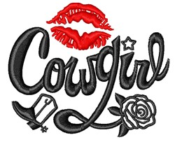 Sexy Cowgirl embroidery design