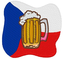 Czech Republic Beer Flag embroidery design