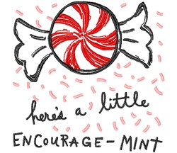 A Little Encourage-Mint embroidery design