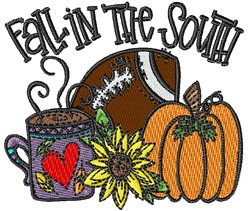 Fall In The South embroidery design