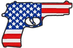 Patriotic Piston embroidery design