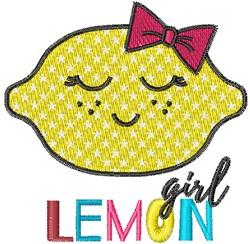 Kawaii Girl Lemon embroidery design