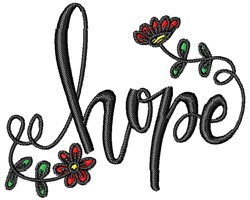 Floral Hope embroidery design