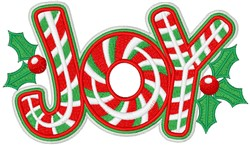 Candy Cane Joy embroidery design