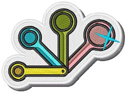 Measuring Spoons embroidery design