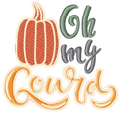 Oh My Gourd embroidery design