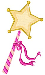 Fairy Wand embroidery design
