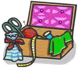 Sewing Basket embroidery design