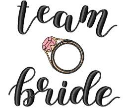Team Bride embroidery design