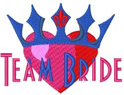 Team Bride Heart embroidery design