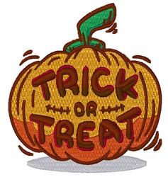 Pumpkin Trick Or Treat embroidery design