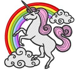 Unicorn & Rainbow embroidery design