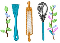 Baking Tools embroidery design