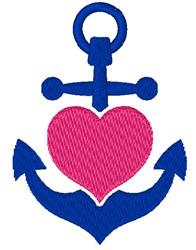 Heart & Anchor embroidery design