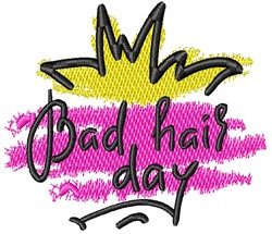 Abstract Bad Hair Day embroidery design