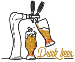 Drink Beer embroidery design
