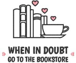 Go To The Bookstore embroidery design