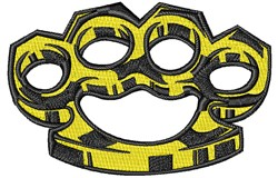 Brass Knuckles embroidery design