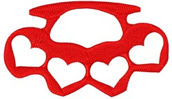 Brass Knuckle Hearts embroidery design
