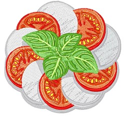Caprese Salad embroidery design