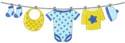 Little Boys Clothesline embroidery design