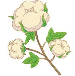 Cotton Ball Plant embroidery design