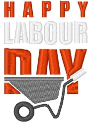Happy Labour Day embroidery design