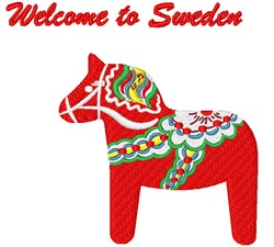 Welcome To Sweden embroidery design