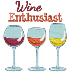 Wine Enthusiast embroidery design