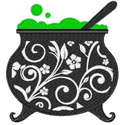 Floral Cauldron embroidery design