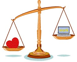 Love Or Work Scales embroidery design