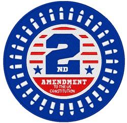 2nd Amendment embroidery design
