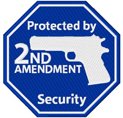 Protected By 2nd Amendment embroidery design