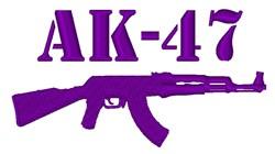 AK-47 embroidery design