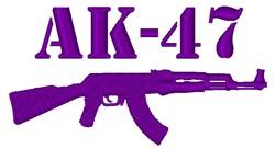 AK-47 Rifle embroidery design