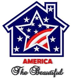 America The Beautiful embroidery design